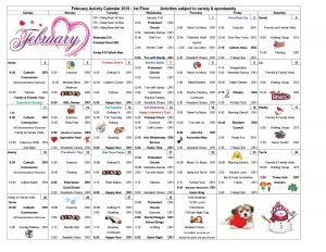 Mukwonago Care Center Calendar