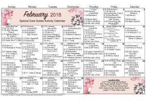 WK Scs Calendar