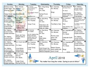 April 2018 Calendar MC NB