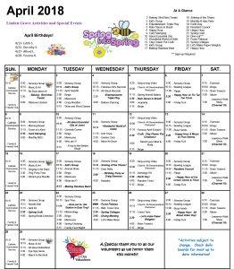 April 2018 Calendar Muk