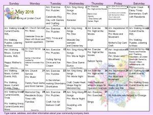 May 2018 NB Court Calendar