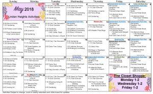 May 2018 WK AL Calendar