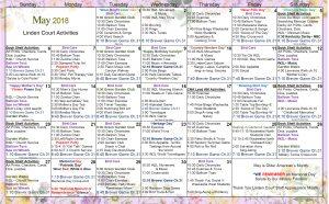 May 2018 WK Court Calendar