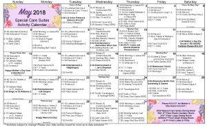 May 2018 WK SCS Calendar