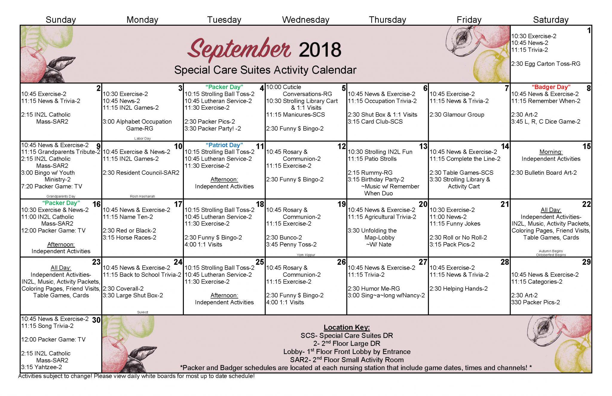 September 2018 Large SCS Lg Schedule Final