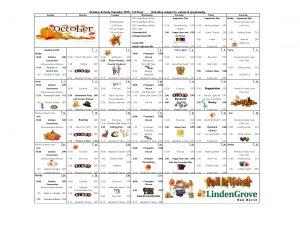 1st Floor Activity Calendar