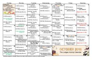 October 2018 Large Lodges