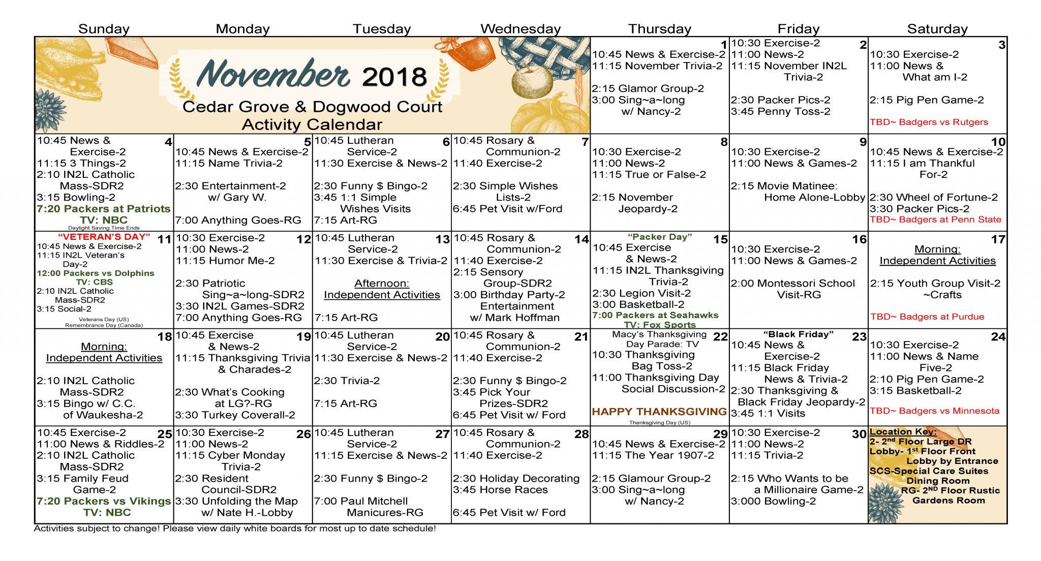 WK CDR DGWD Nov 2018