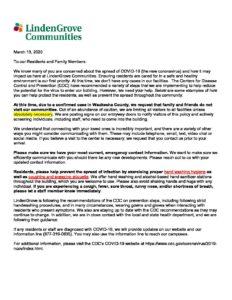 Family & Resident Letter DRAFT