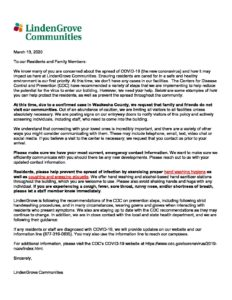 Resident And Family Letter