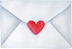 Envelope With Small Heart Shaped Sticker