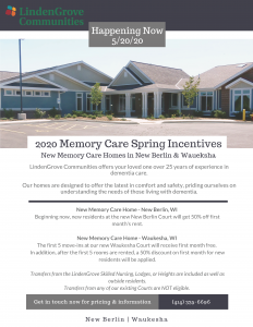 NEW Memory Care Incentives