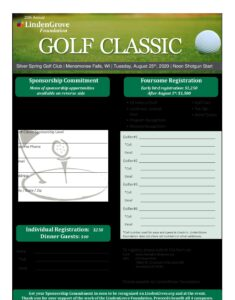 2020 Golf Sponsorship And Registration